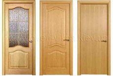 Блок дверной деревянный, шпон дуба (полотно+коробка+наличники+тонировка). Изготовление под заказ...