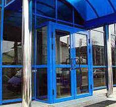 Входные алюминиевые Двери (1450х2100), ТЕРМО